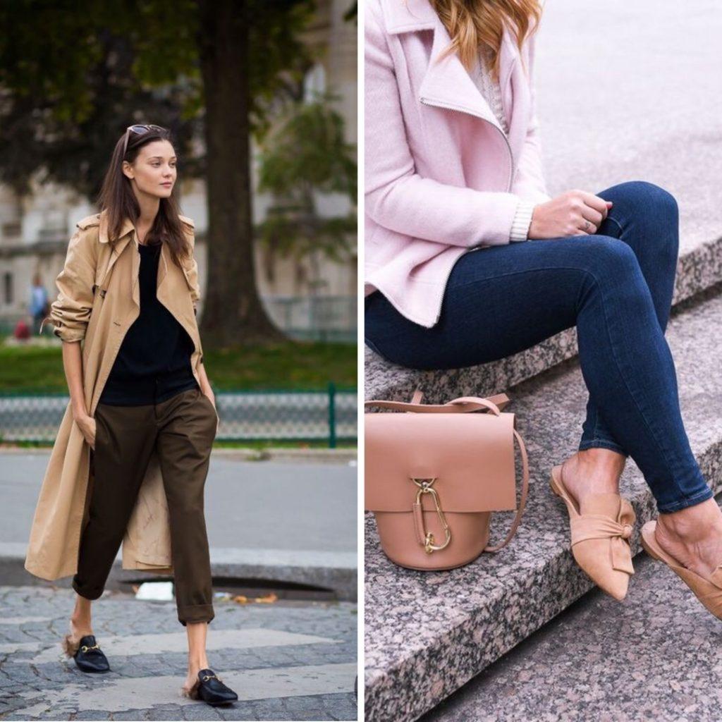 mules scarpe mezza stagione scarpe autunno