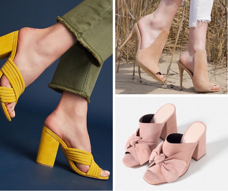 mules scarpe mezza stagione sandali scarpe col tacco